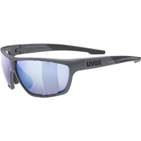 UVEX Sportstyle 706 Colorvision Glasses dark grey matt/litemirror amber